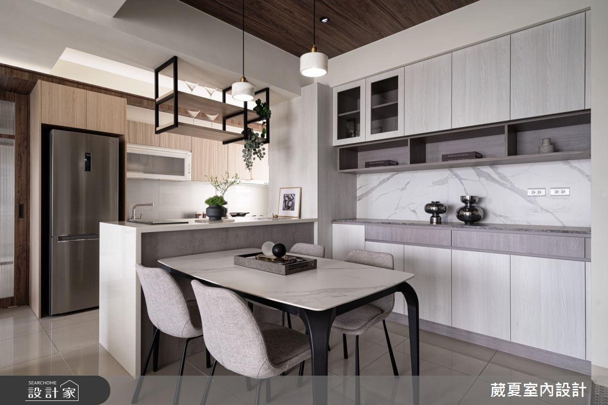 40坪新成屋(5年以下)_現代風餐廳案例圖片_葳夏室內設計_葳夏_17之6