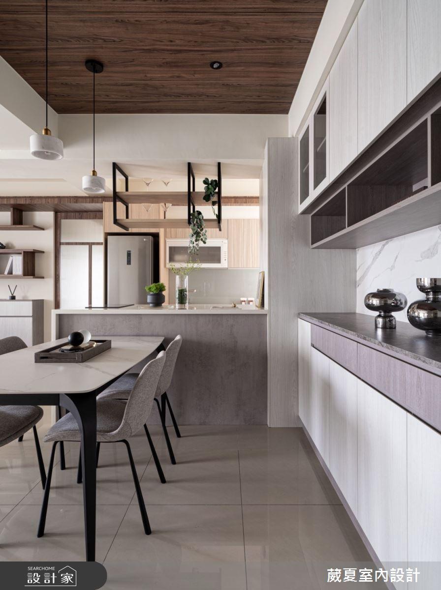 40坪新成屋(5年以下)_現代風餐廳案例圖片_葳夏室內設計_葳夏_17之8