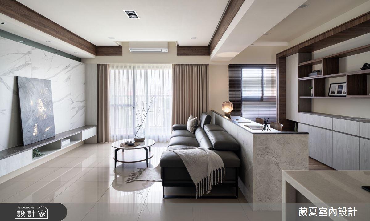 40坪新成屋(5年以下)_現代風客廳案例圖片_葳夏室內設計_葳夏_17之12