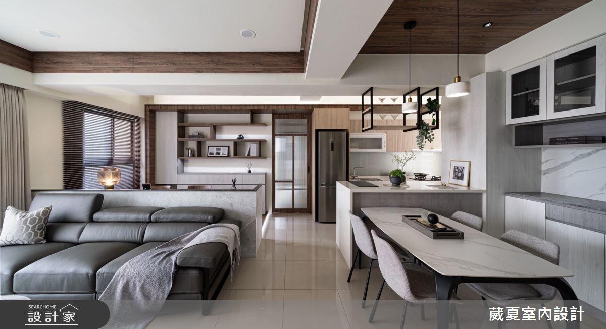 40坪新成屋(5年以下)_現代風客廳案例圖片_葳夏室內設計_葳夏_17之3