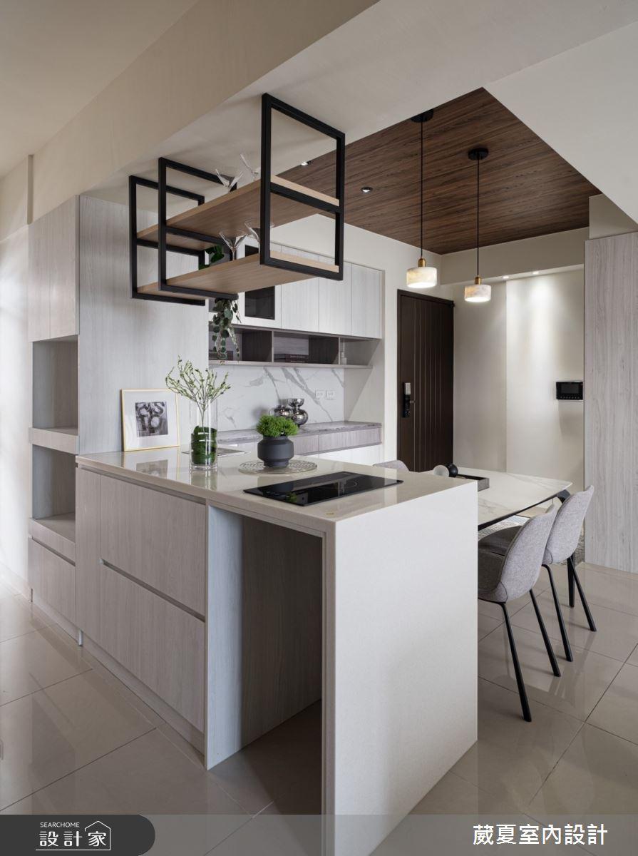 40坪新成屋(5年以下)_現代風餐廳廚房吧檯案例圖片_葳夏室內設計_葳夏_17之9
