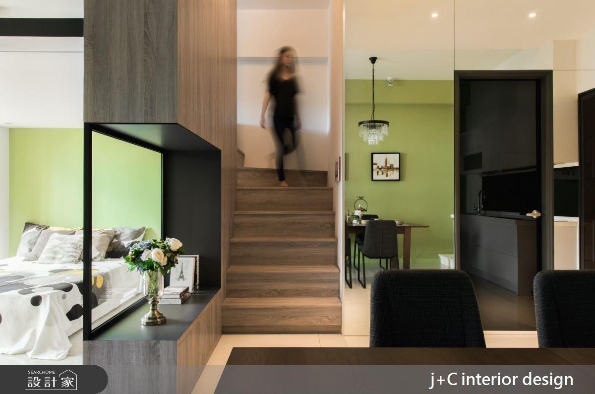 20坪新成屋(5年以下)_現代風樓梯案例圖片_杰宸室內設計有限公司_杰宸_01之2