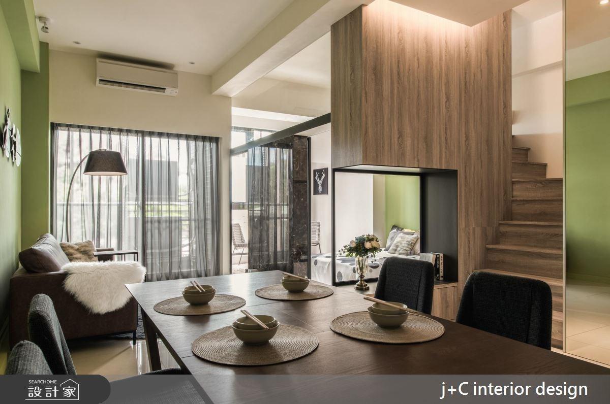 20坪新成屋(5年以下)_現代風餐廳樓梯案例圖片_杰宸室內設計有限公司_杰宸_01之3