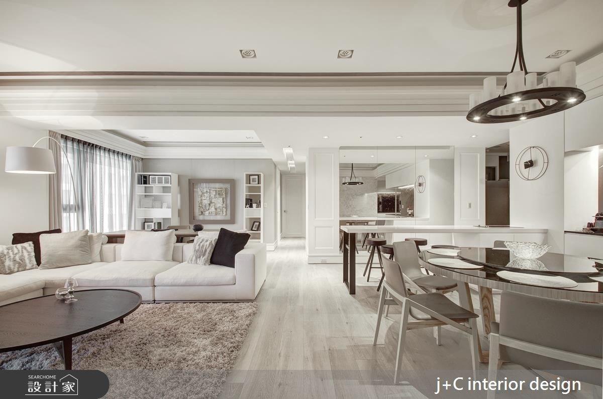 80坪新成屋(5年以下)_新古典客廳餐廳案例圖片_杰宸室內設計有限公司_杰宸_04之2