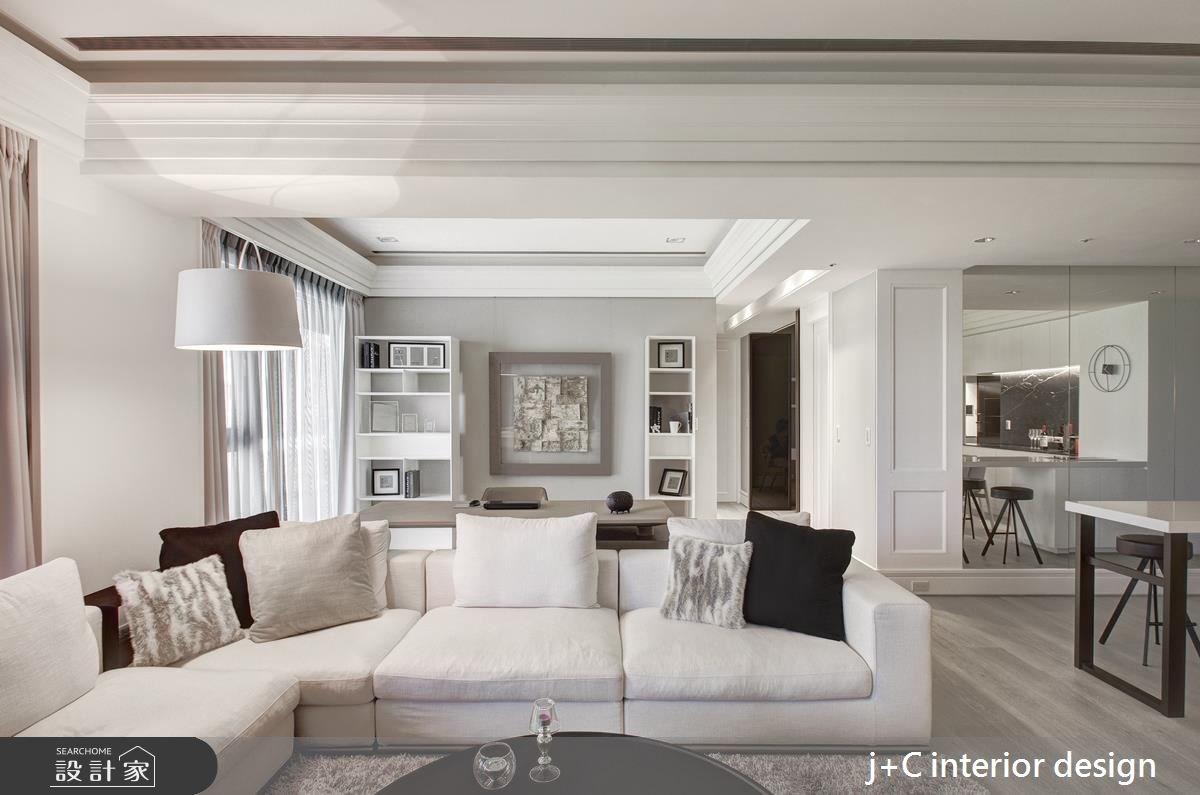 80坪新成屋(5年以下)_新古典客廳案例圖片_杰宸室內設計有限公司_杰宸_04之3