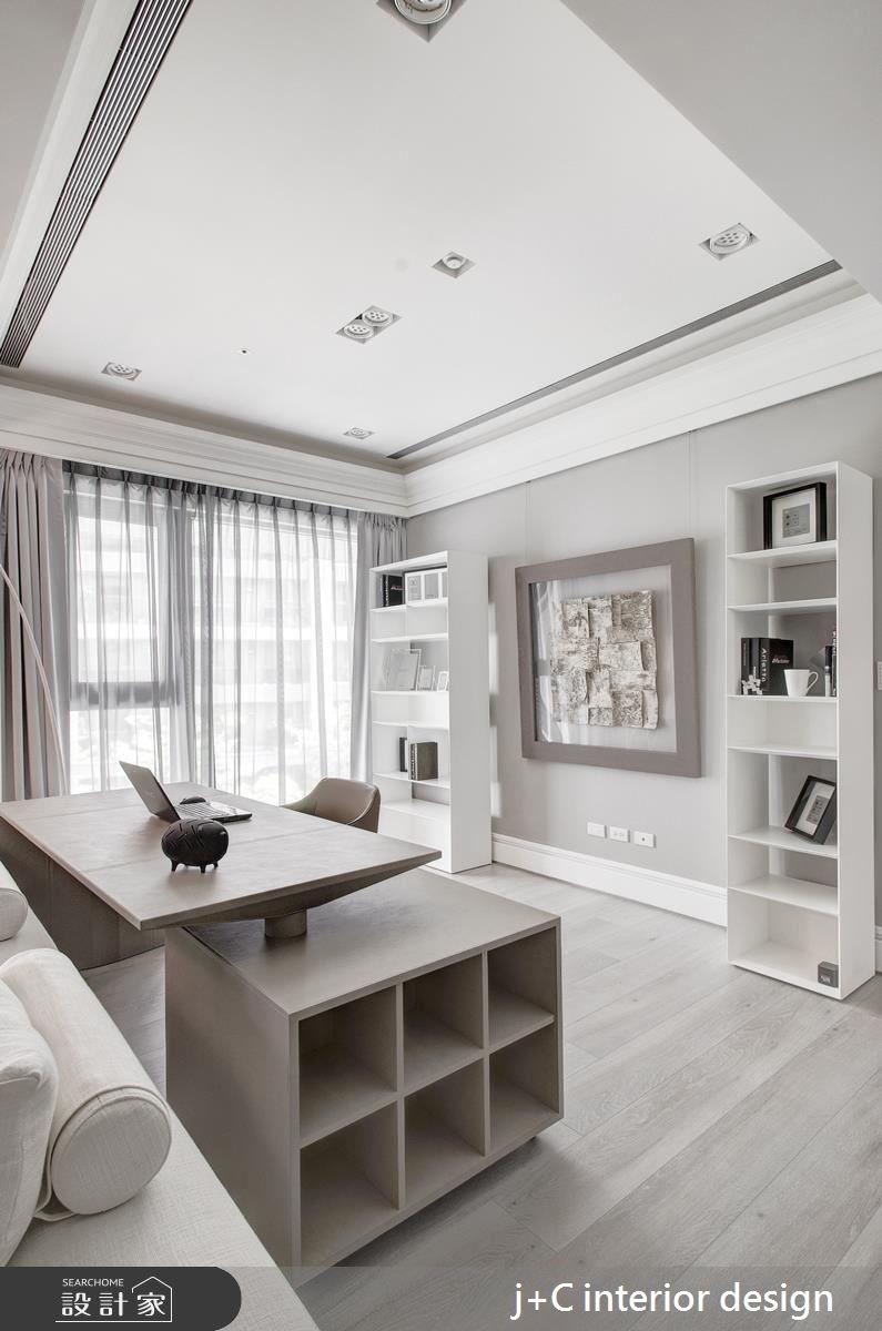 80坪新成屋(5年以下)_新古典工作區案例圖片_杰宸室內設計有限公司_杰宸_04之6