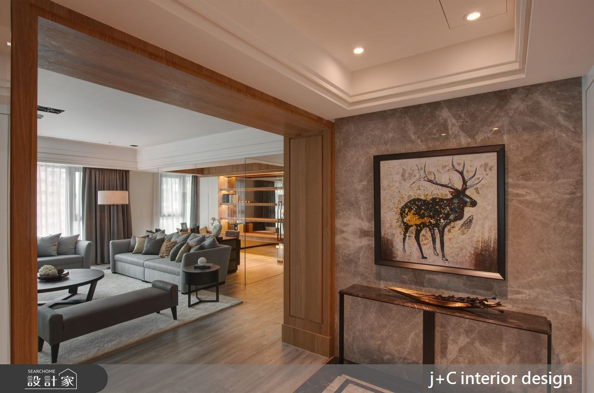 110坪新成屋(5年以下)_新古典玄關客廳案例圖片_杰宸室內設計有限公司_杰宸_06之2