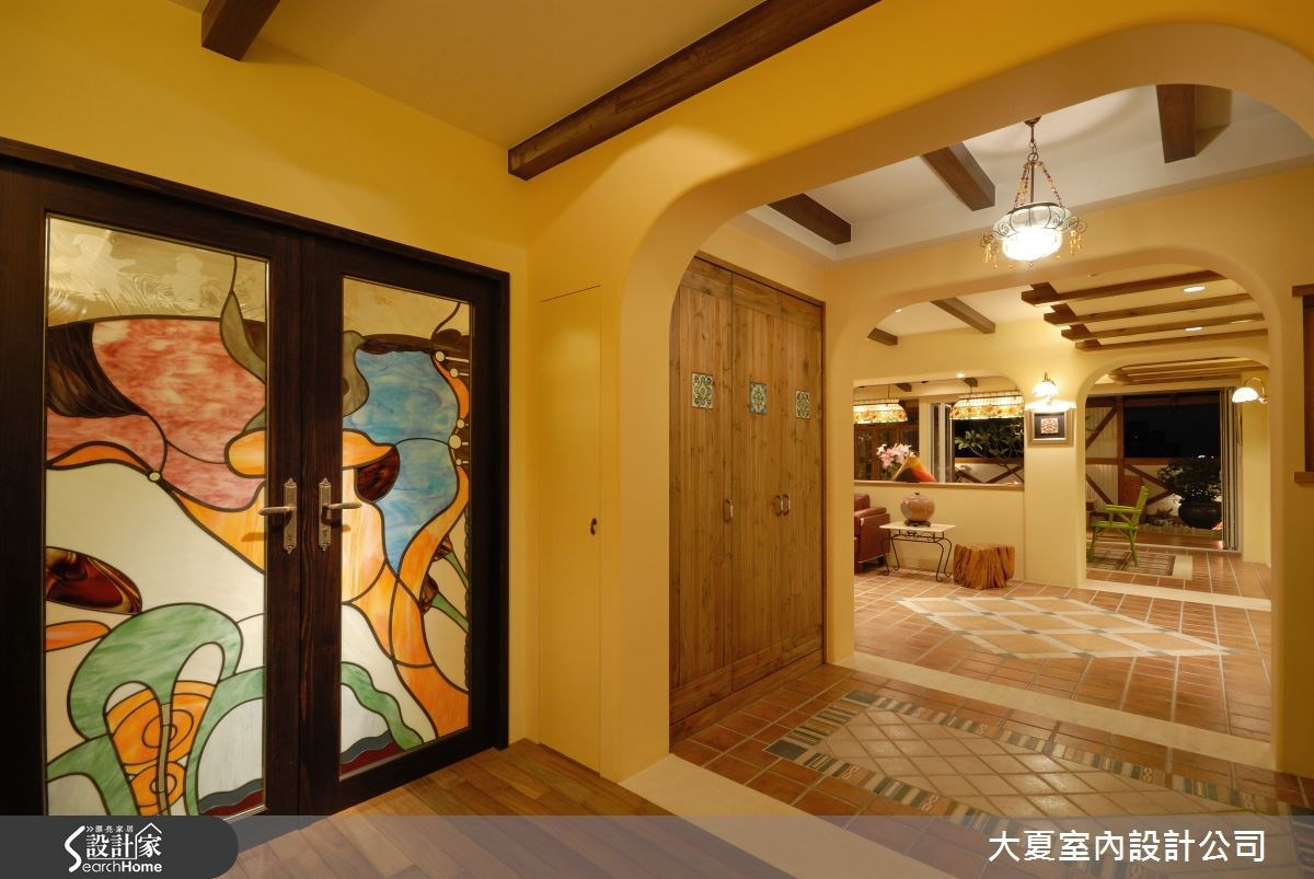 95坪新成屋(5年以下)_鄉村風案例圖片_大夏室內設計公司_大夏_02之1