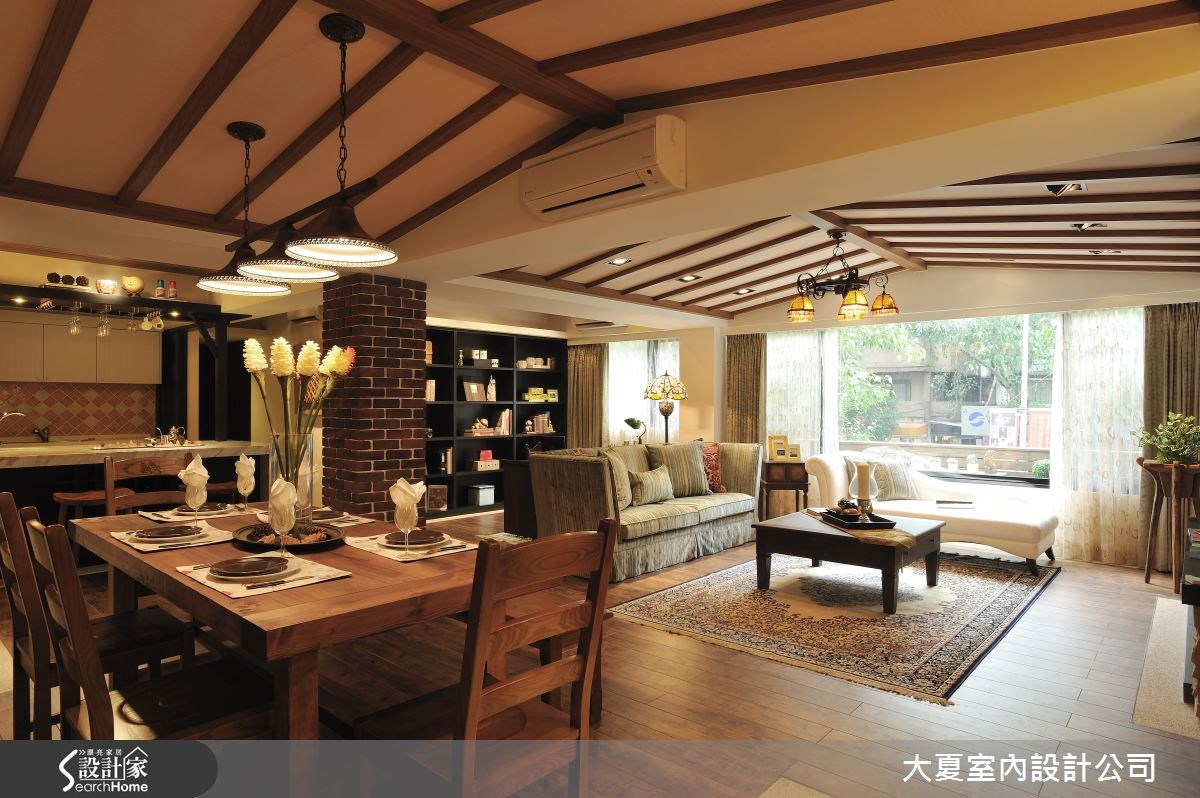 44坪老屋(16~30年)_鄉村風客廳餐廳案例圖片_大夏室內設計公司_大夏_05之1
