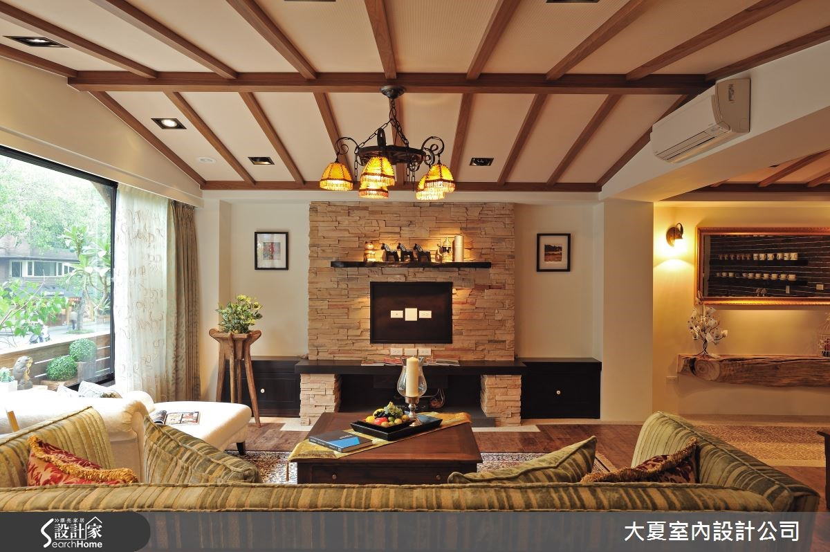 44坪老屋(16~30年)_鄉村風客廳案例圖片_大夏室內設計公司_大夏_05之4