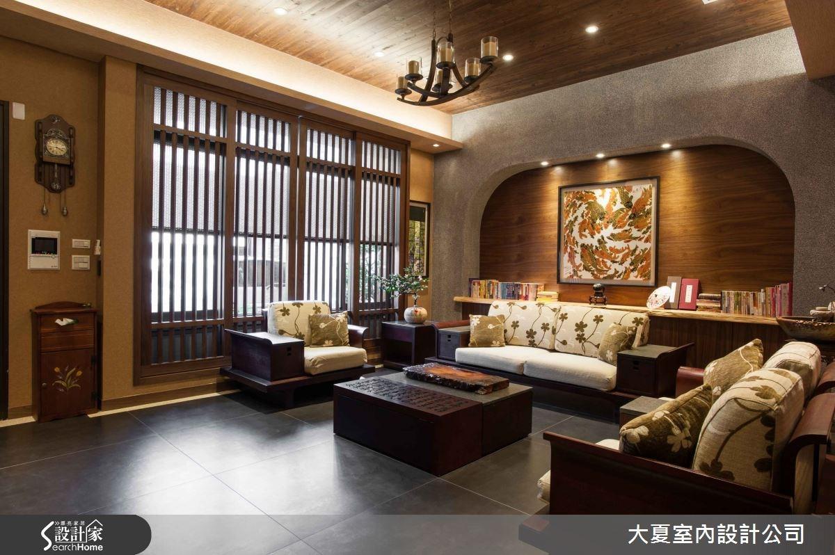74坪新成屋(5年以下)_人文禪風客廳案例圖片_大夏室內設計公司_大夏_13之1