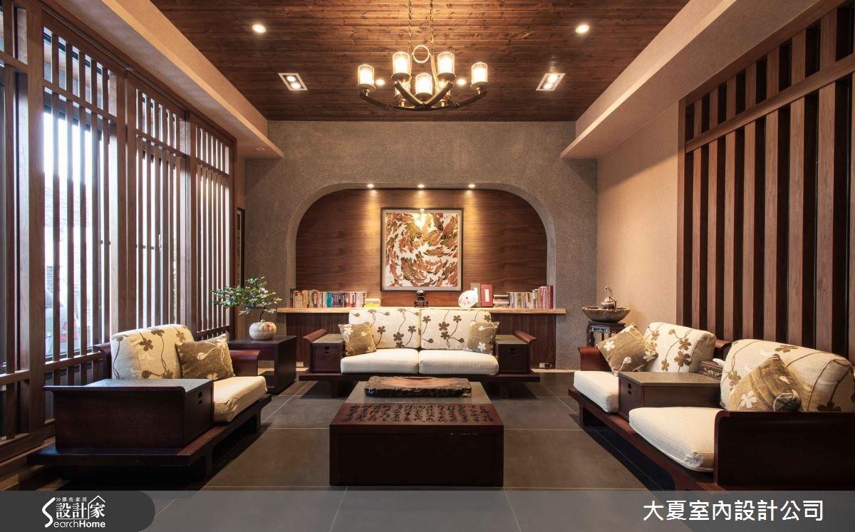 74坪新成屋(5年以下)_人文禪風客廳案例圖片_大夏室內設計公司_大夏_13之2