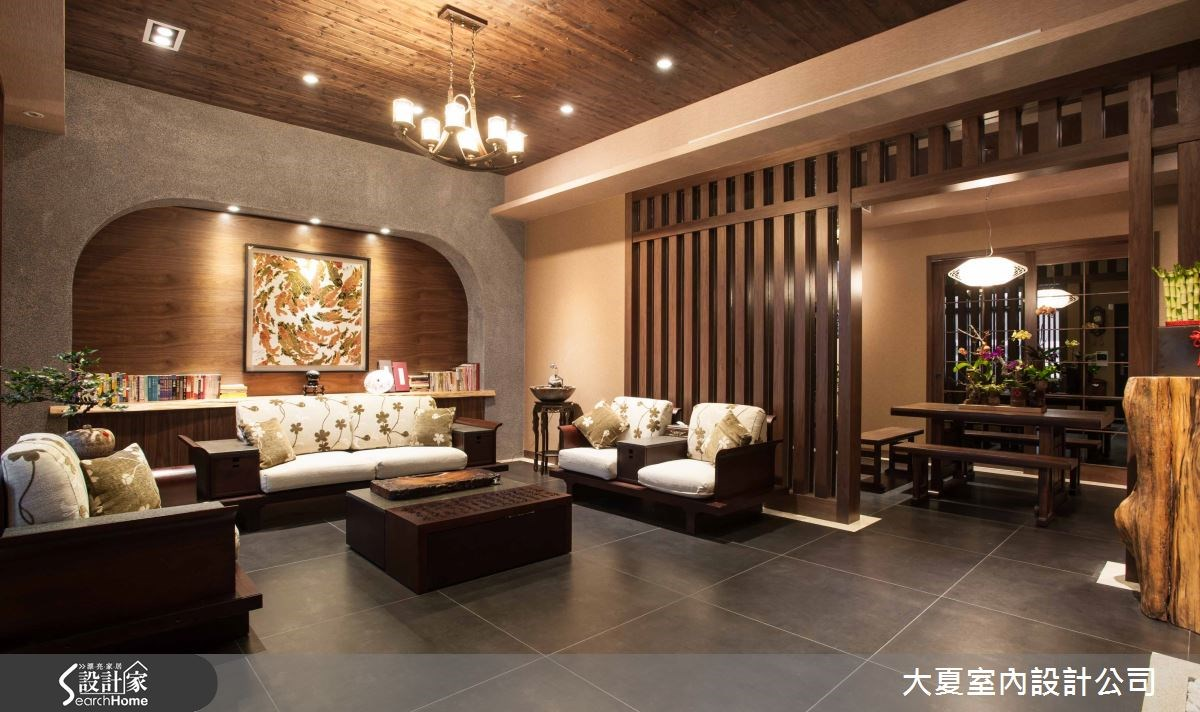 74坪新成屋(5年以下)_人文禪風客廳案例圖片_大夏室內設計公司_大夏_13之3