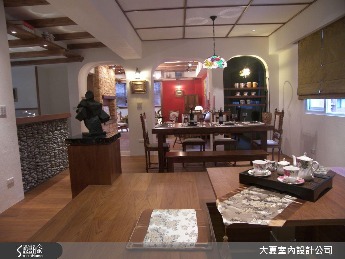 48坪中古屋(5~15年)_鄉村風餐廳案例圖片_大夏室內設計公司_大夏_14之5