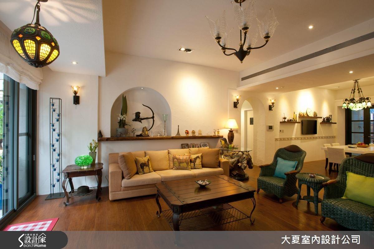 95坪新成屋(5年以下)_鄉村風客廳案例圖片_大夏室內設計公司_大夏_15之2