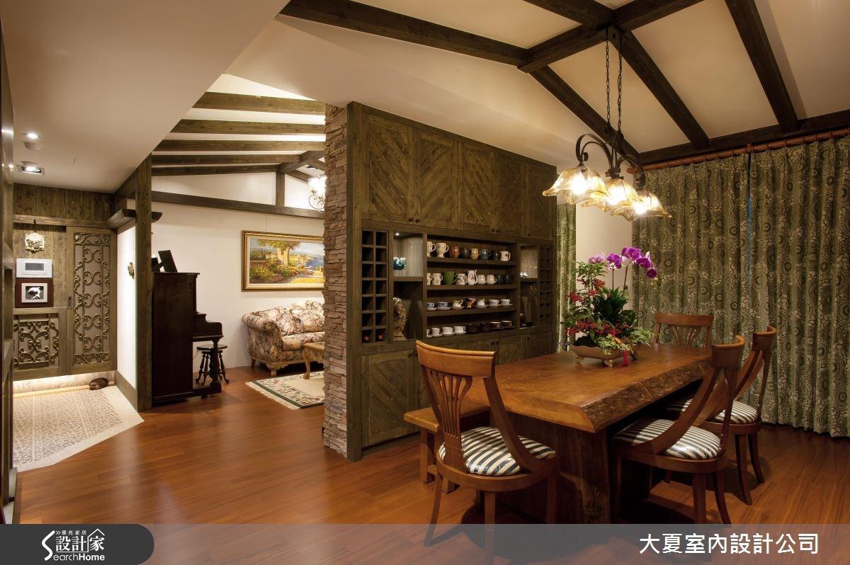 60坪新成屋(5年以下)_鄉村風餐廳案例圖片_大夏室內設計公司_大夏_17之4