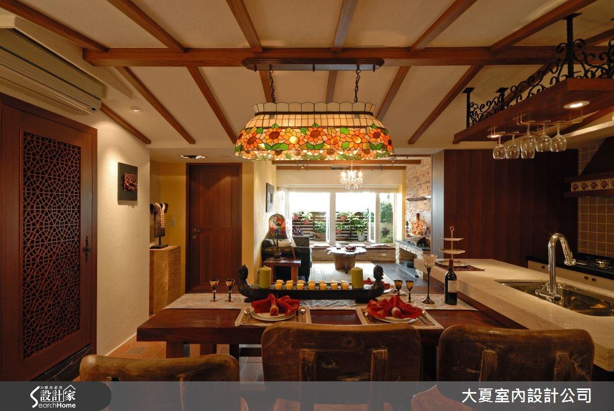 42坪老屋(16~30年)_鄉村風餐廳吧檯案例圖片_大夏室內設計公司_大夏_18之6
