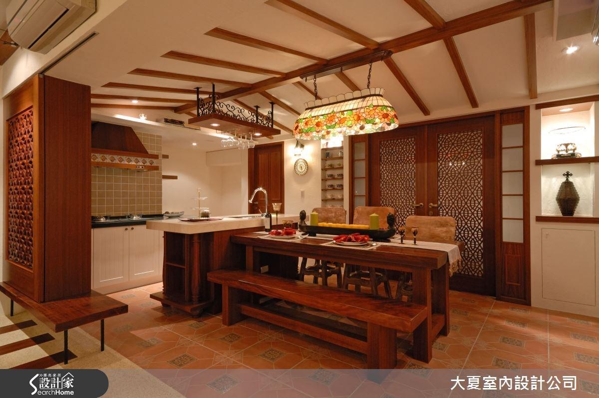 42坪老屋(16~30年)_鄉村風餐廳吧檯案例圖片_大夏室內設計公司_大夏_18之9