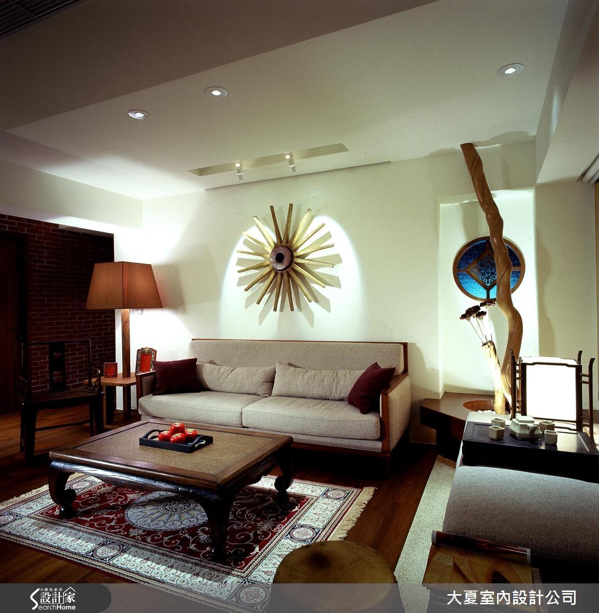 34坪老屋(16~30年)_新中式風客廳案例圖片_大夏室內設計公司_大夏_20之2