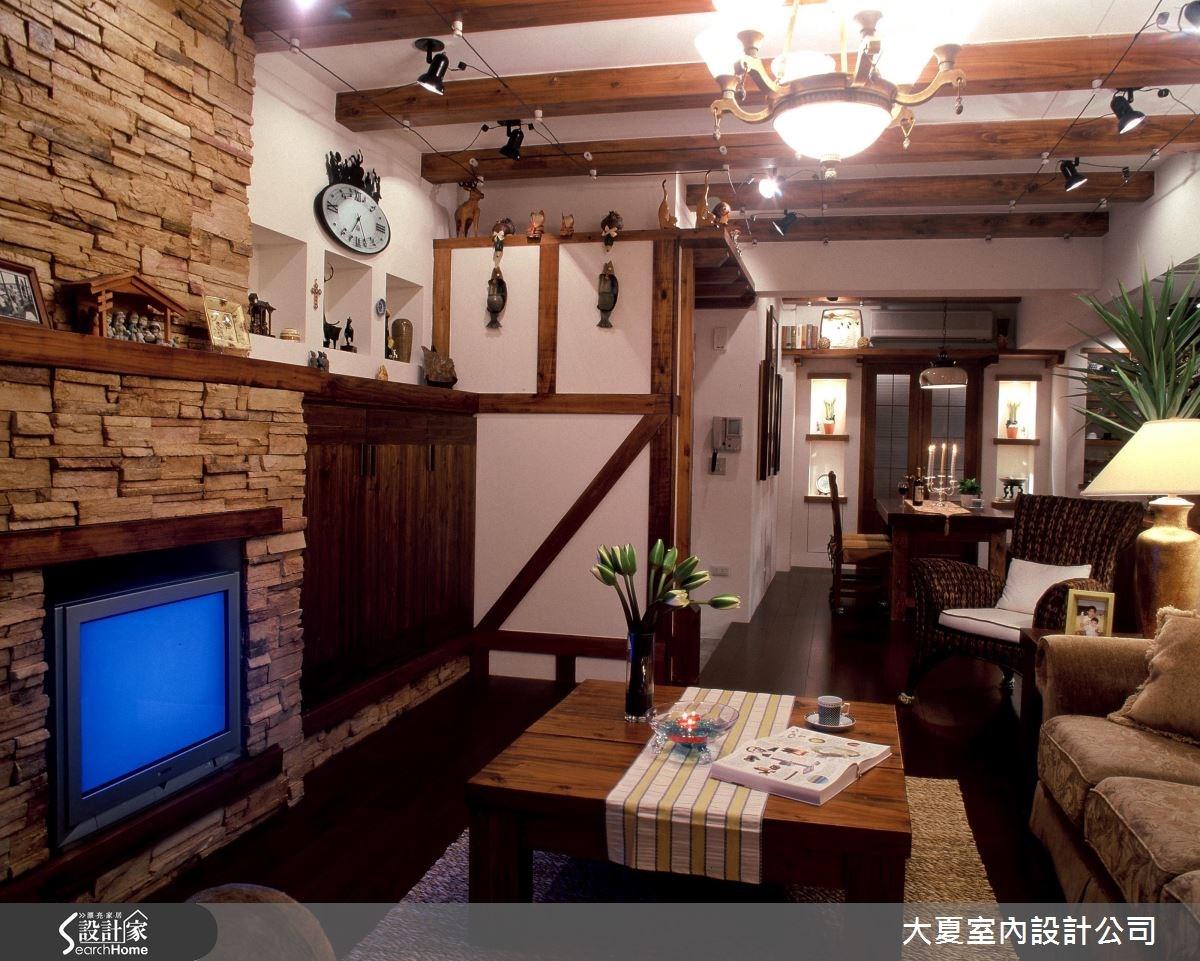 48坪老屋(16~30年)_鄉村風客廳案例圖片_大夏室內設計公司_大夏_21之3