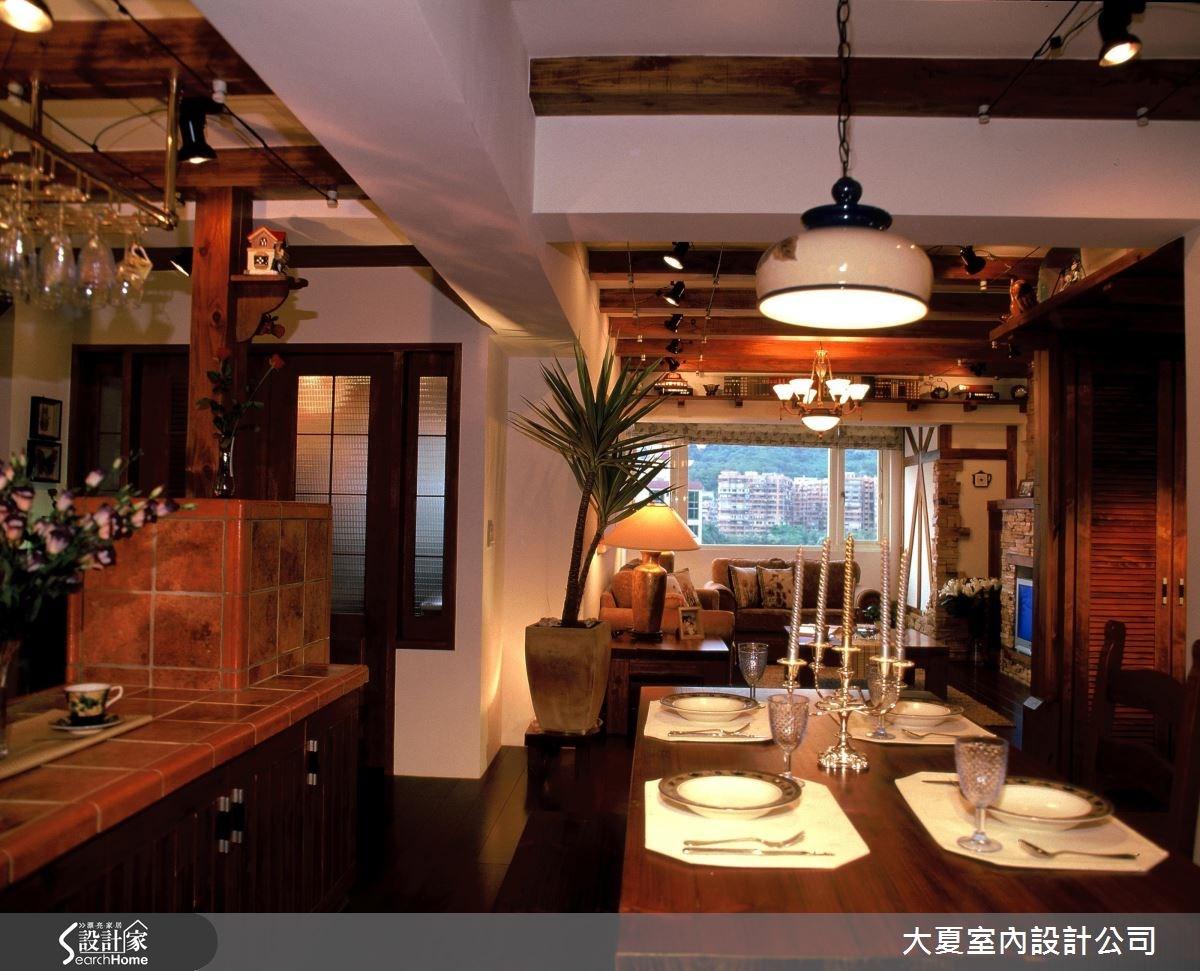 48坪老屋(16~30年)_鄉村風餐廳吧檯案例圖片_大夏室內設計公司_大夏_21之6