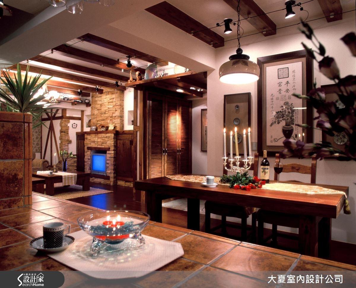 48坪老屋(16~30年)_鄉村風餐廳吧檯案例圖片_大夏室內設計公司_大夏_21之9
