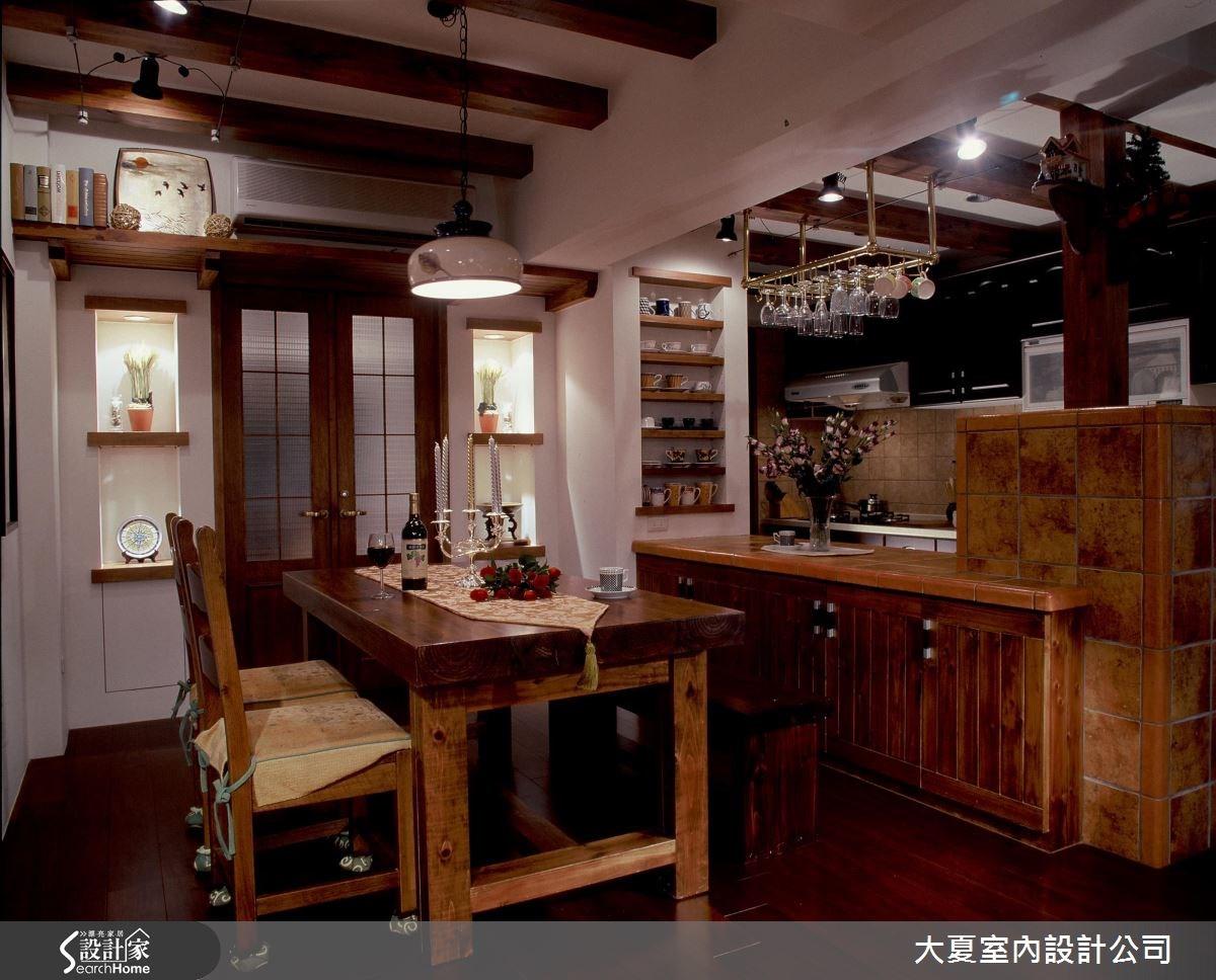 48坪老屋(16~30年)_鄉村風餐廳案例圖片_大夏室內設計公司_大夏_21之10