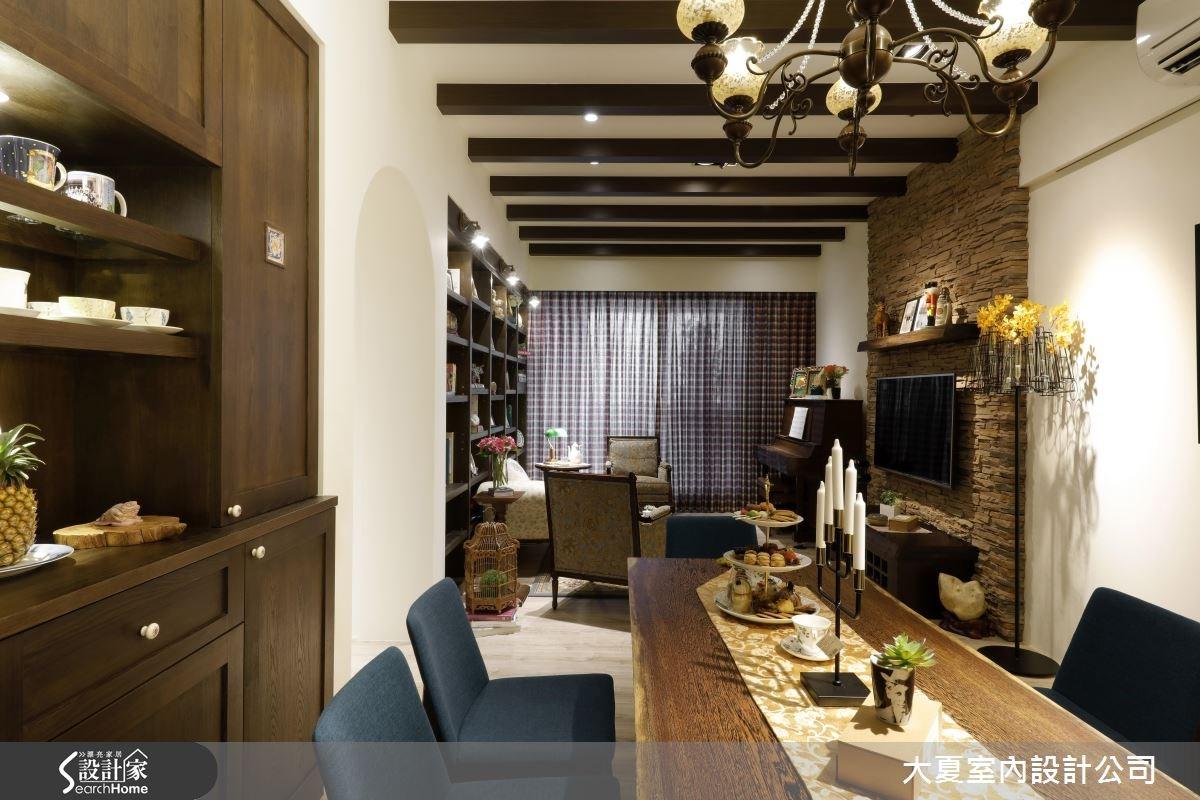 45坪新成屋(5年以下)_鄉村風餐廳案例圖片_大夏室內設計公司_大夏_27之2