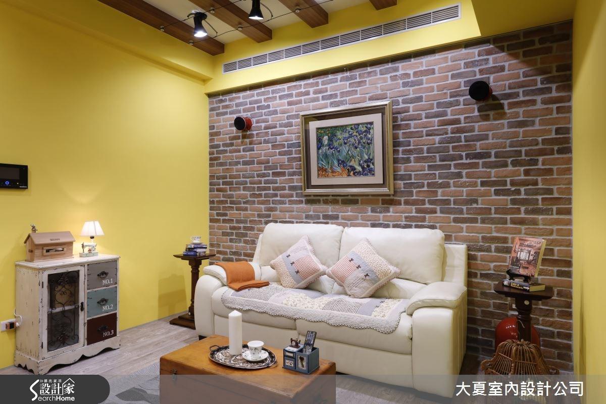 24坪新成屋(5年以下)_鄉村風客廳案例圖片_大夏室內設計公司_大夏_29之2