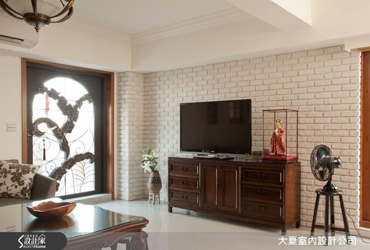 42坪新成屋(5年以下)_新中式風客廳案例圖片_大夏室內設計公司_大夏_34之3