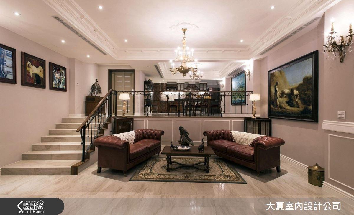 51坪老屋(16~30年)_新古典客廳案例圖片_大夏室內設計公司_大夏_39之1