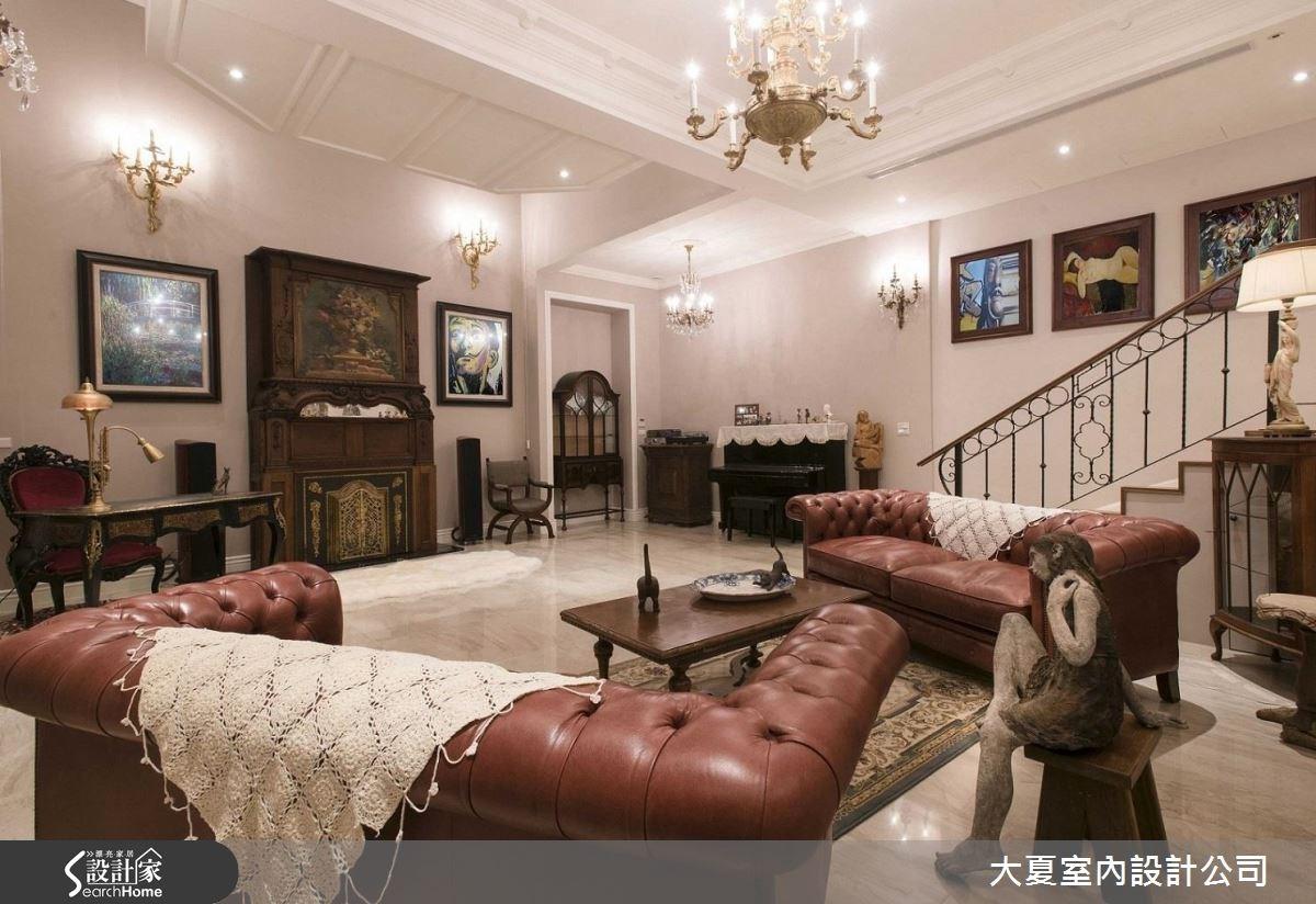 51坪老屋(16~30年)_新古典客廳案例圖片_大夏室內設計公司_大夏_39之3