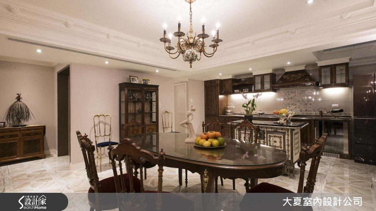 51坪老屋(16~30年)_新古典餐廳案例圖片_大夏室內設計公司_大夏_39之4