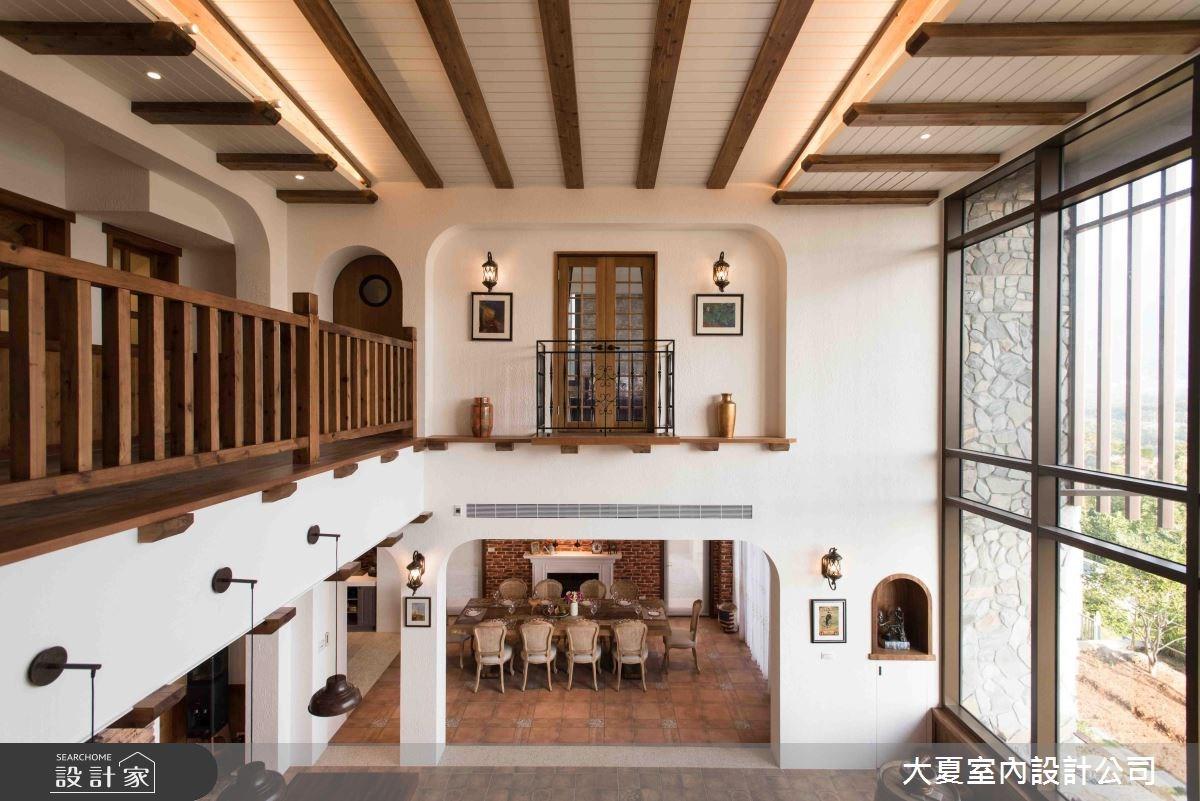 100坪新成屋(5年以下)_鄉村風餐廳走廊案例圖片_大夏室內設計公司_大夏_42之2