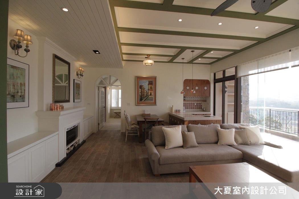 60坪新成屋(5年以下)_鄉村風客廳餐廳案例圖片_大夏室內設計公司_大夏_43之6