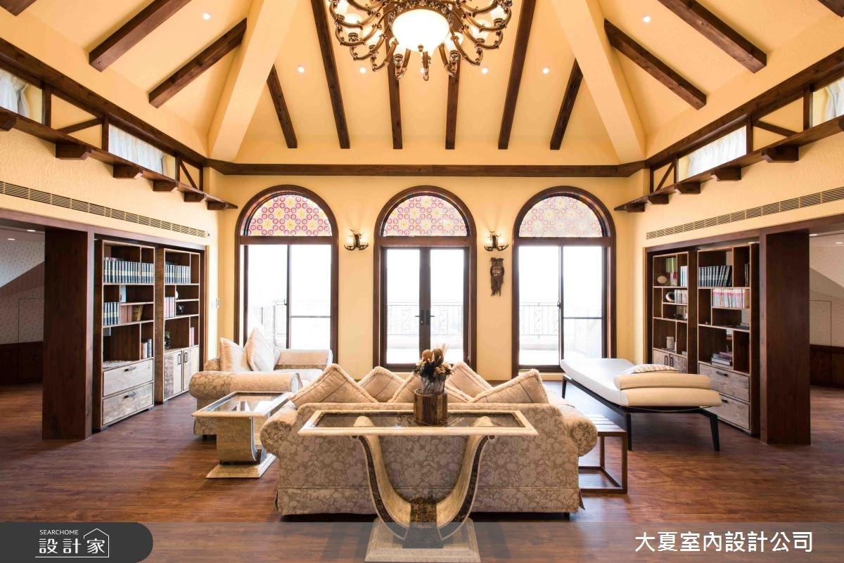 45坪新成屋(5年以下)_鄉村風客廳案例圖片_大夏室內設計公司_大夏_44之2