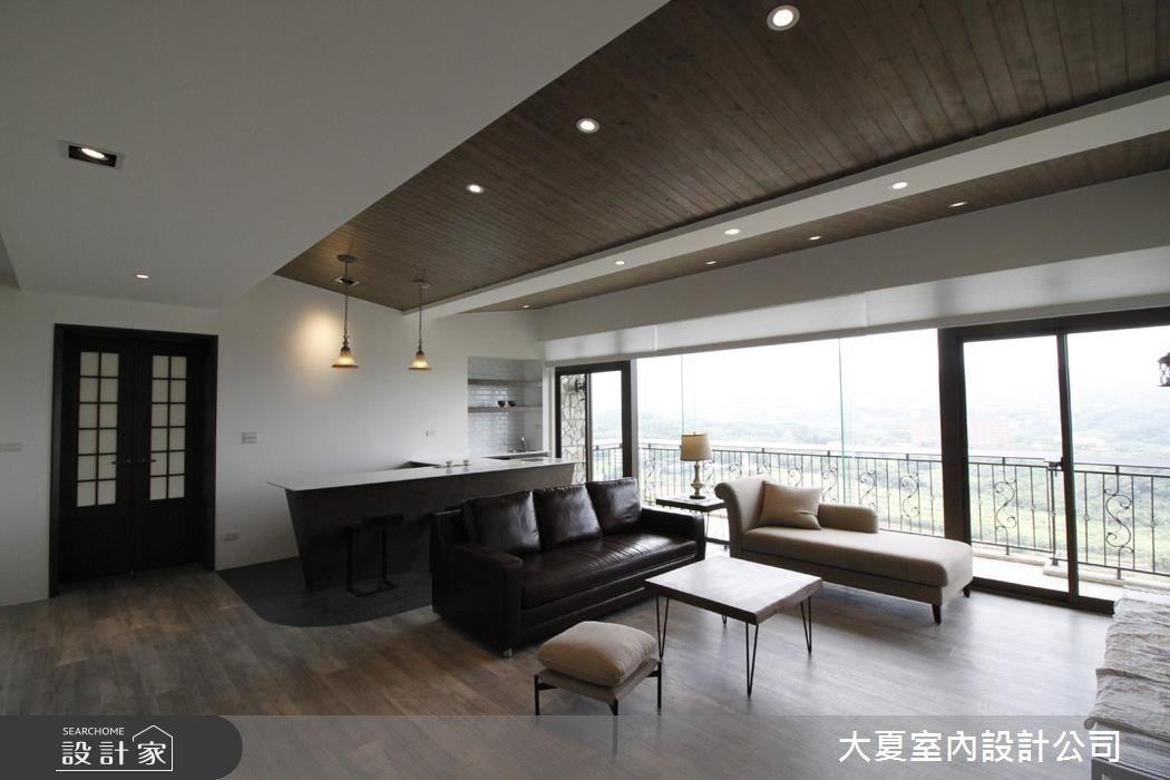 60坪新成屋(5年以下)_鄉村風客廳吧檯案例圖片_大夏室內設計公司_大夏_45之1