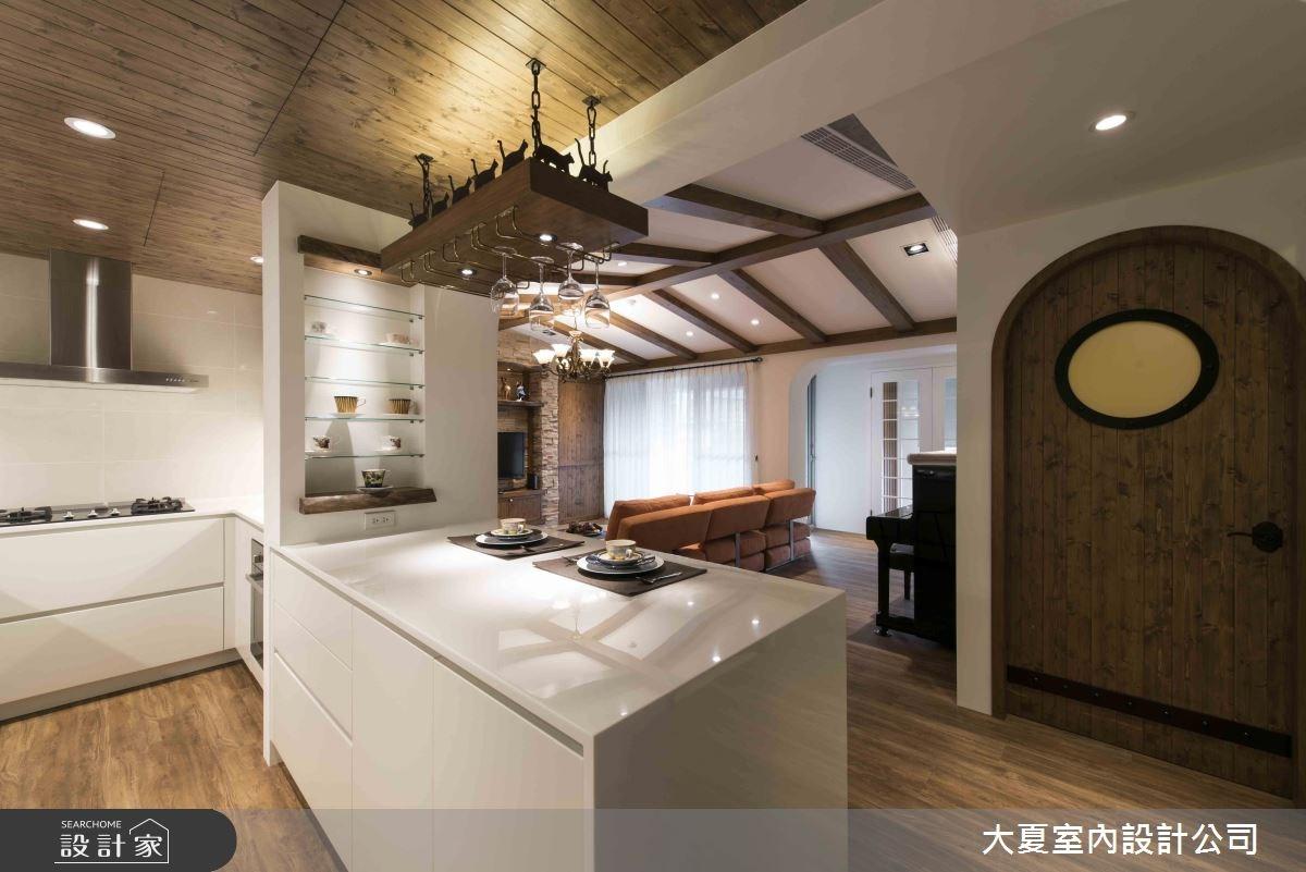 47坪新成屋(5年以下)_鄉村風客廳廚房吧檯案例圖片_大夏室內設計公司_大夏_47之8