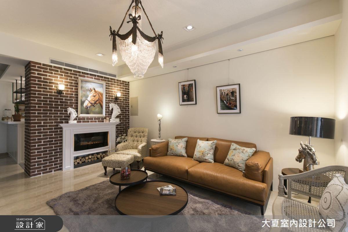 40坪新成屋(5年以下)_美式風客廳案例圖片_大夏室內設計公司_大夏_48之3