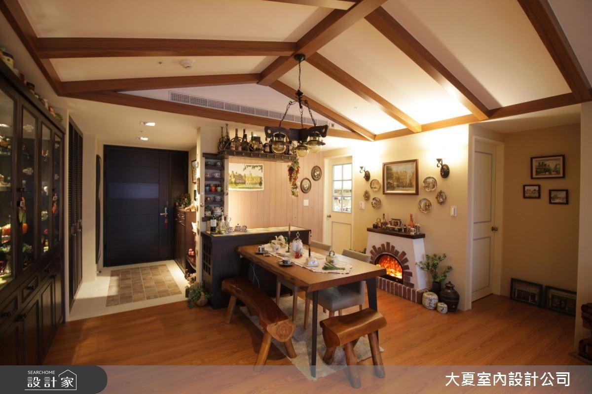 48坪新成屋(5年以下)_鄉村風玄關餐廳案例圖片_大夏室內設計公司_大夏_51之3