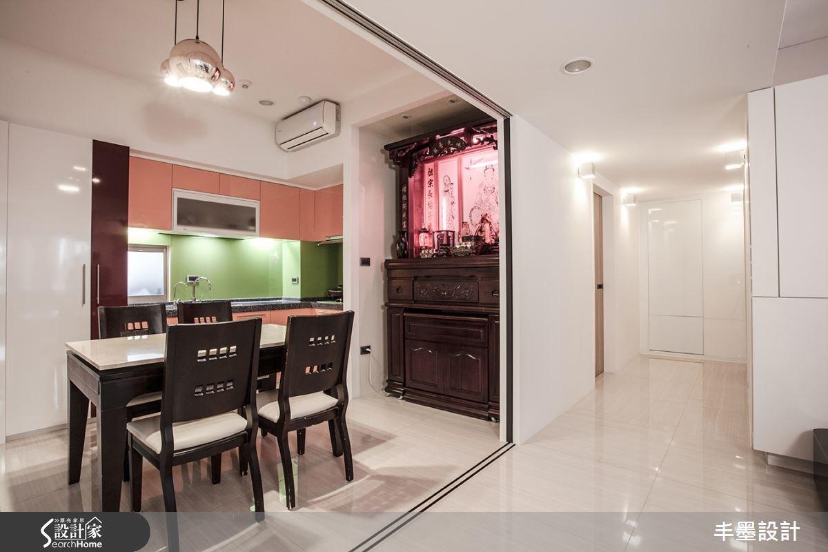 26坪老屋(16~30年)_現代風餐廳廚房案例圖片_丰墨設計_丰墨_01之9
