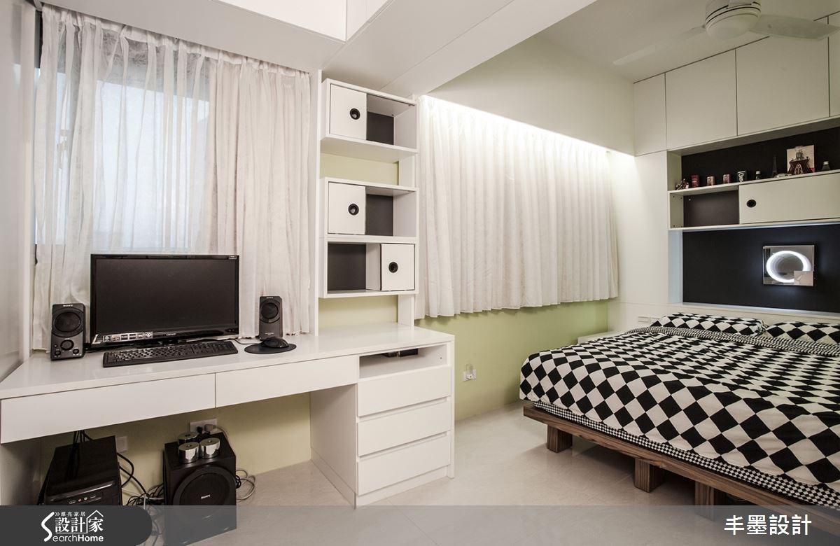 26坪老屋(16~30年)_現代風臥室案例圖片_丰墨設計_丰墨_01之11
