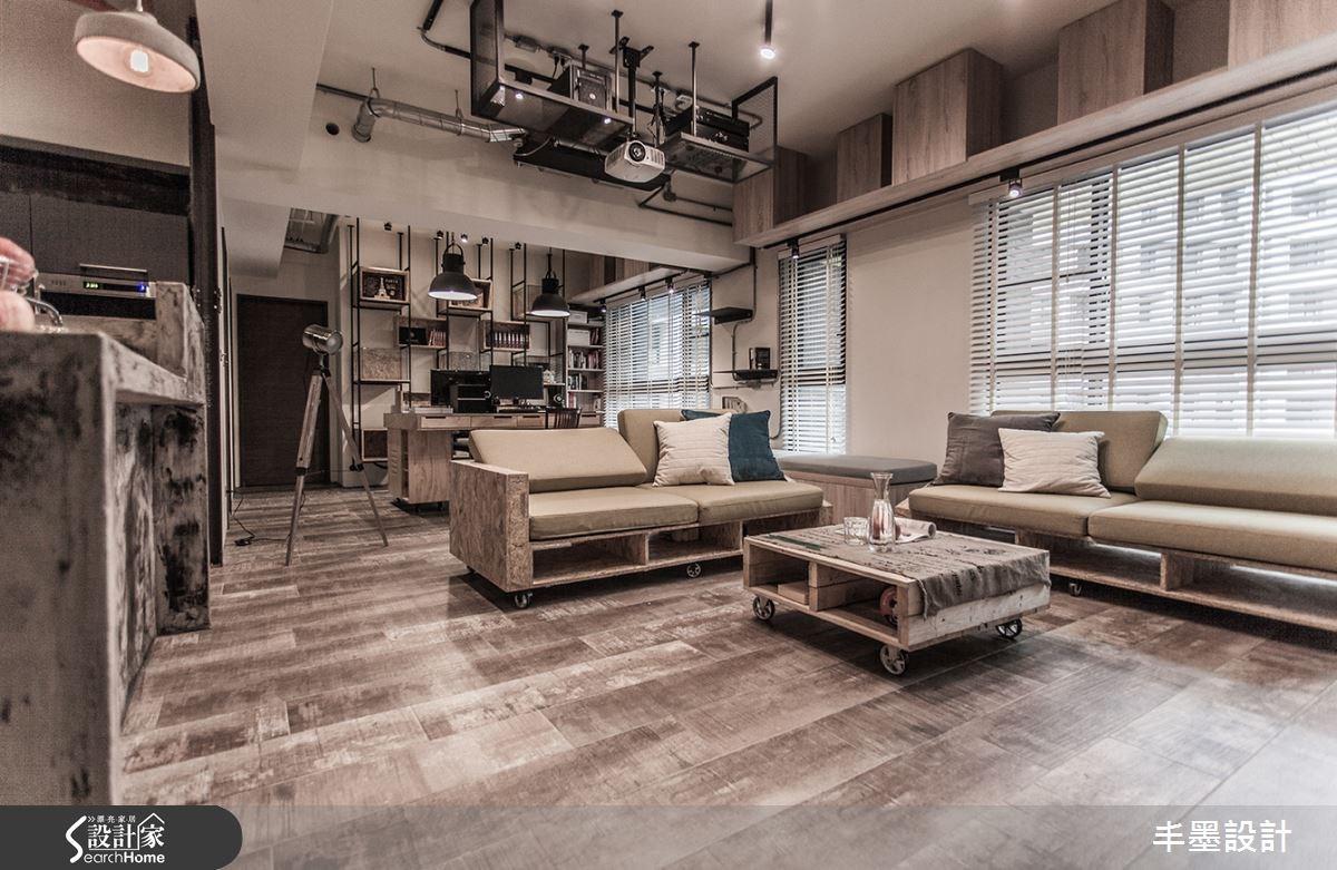 23坪新成屋(5年以下)_工業風客廳書房案例圖片_丰墨設計_丰墨_04之13