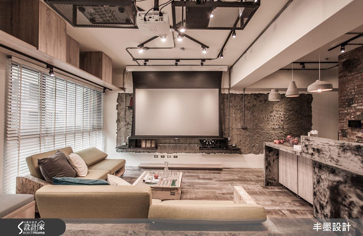 23坪新成屋(5年以下)_工業風客廳吧檯案例圖片_丰墨設計_丰墨_04之15