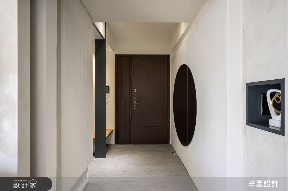 56坪新成屋(5年以下)_現代風玄關案例圖片_丰墨設計_丰墨_09之1