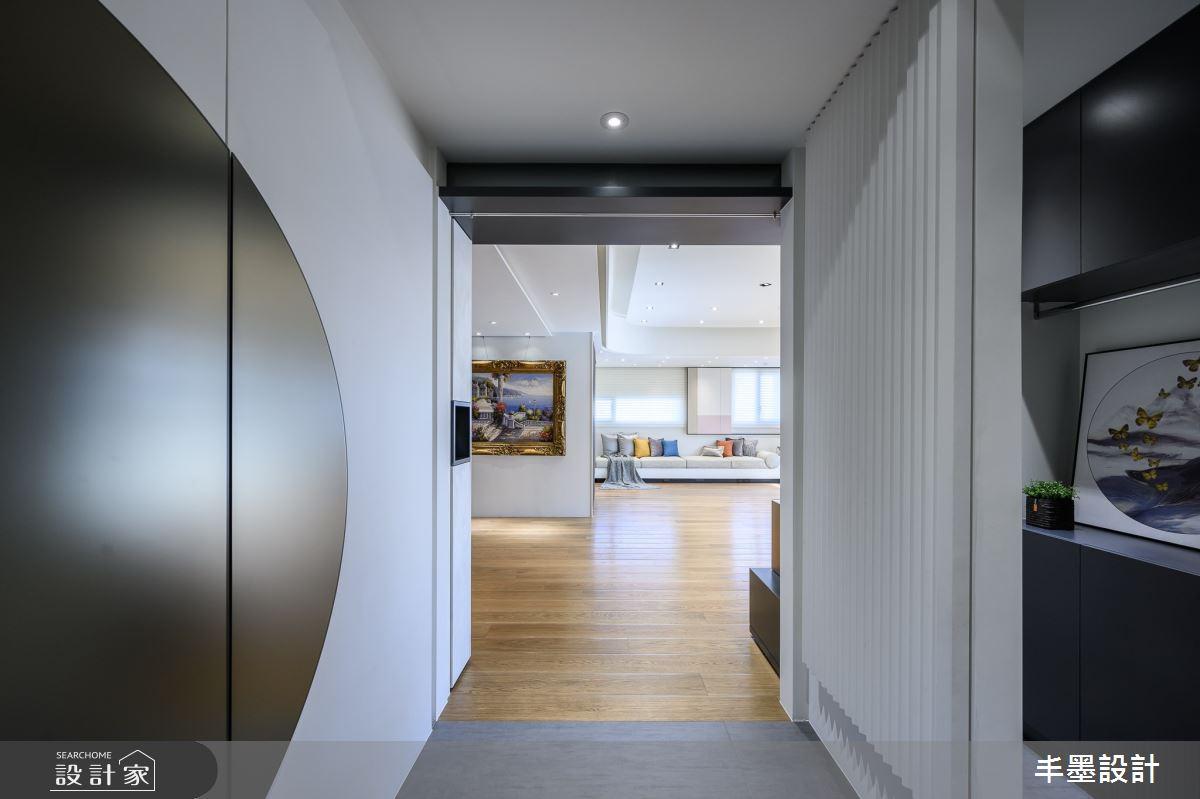 56坪新成屋(5年以下)_現代風玄關案例圖片_丰墨設計_丰墨_09之4