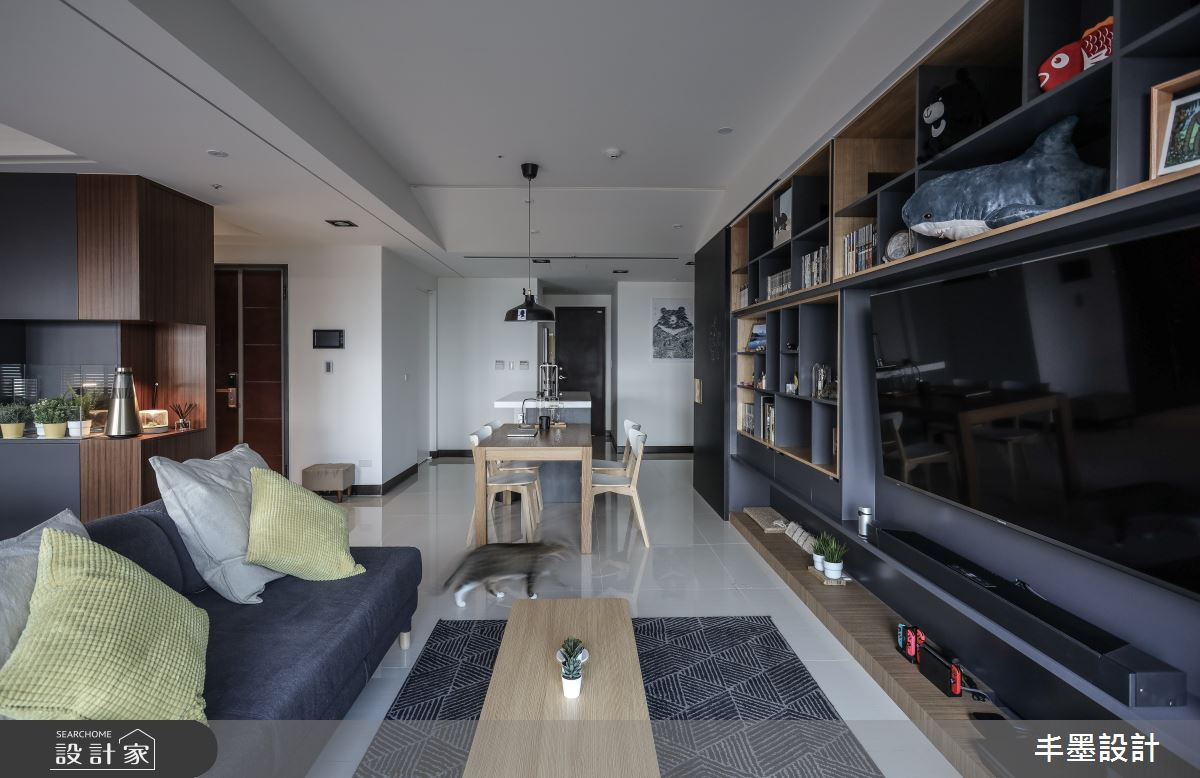 35坪新成屋(5年以下)_現代風客廳餐廳案例圖片_丰墨設計_丰墨_13之4