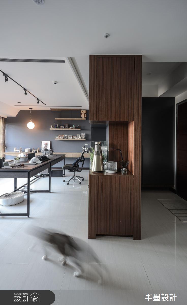 35坪新成屋(5年以下)_現代風書房案例圖片_丰墨設計_丰墨_13之3