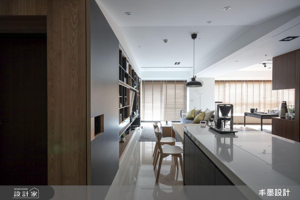 35坪新成屋(5年以下)_現代風餐廳案例圖片_丰墨設計_丰墨_13之2