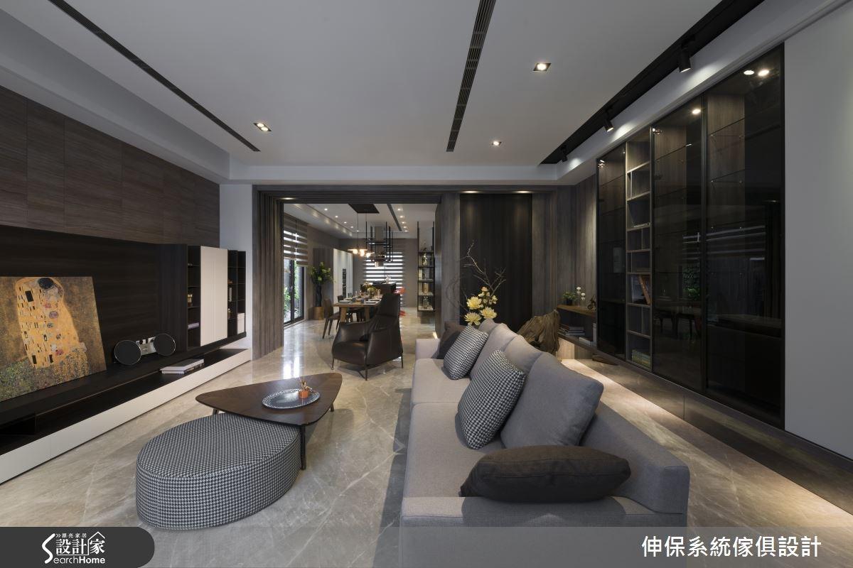 100坪預售屋_混搭風客廳案例圖片_伸保系統傢俱設計_伸保_01之1